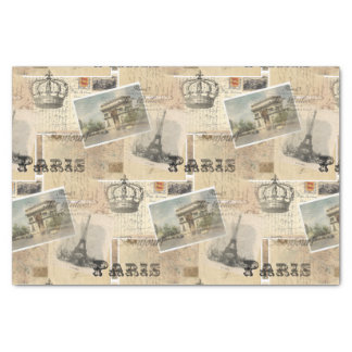 French Postcard Paris Tissue Paper
