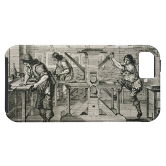 French printing press, 1642 (engraving) iPhone 5 case