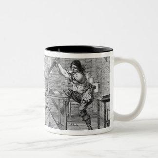 French printing press, 1642 Two-Tone coffee mug