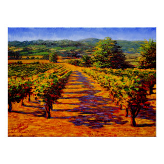 French Provencal Vineyard Poster