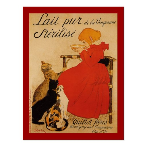 French Pure Milk of Vineanne Postcard