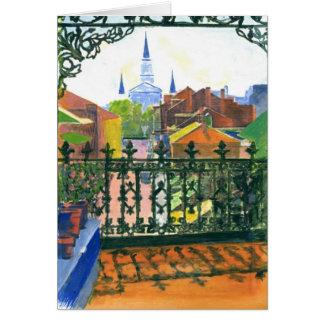 French Quarter Balcony Card
