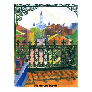 French Quarter Balcony, Fig Street Studio Postcard
