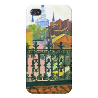 French Quarter Balcony iPhone 4 Cover