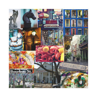 French Quarter collage Canvas Print