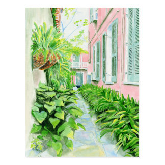 French Quarter Courtyard Postcard