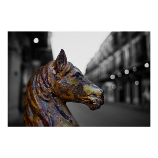 French Quarter Hitching Post Variation Poster