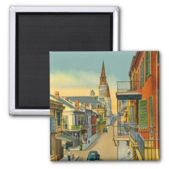 French Quarter New Orleans Square Magnet