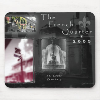 French Quarter Photography Collage Mouse Pad
