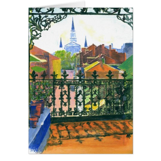 French Quarter Street Card