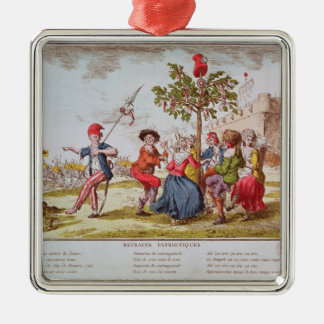 French revolutionaries dancing the carmagnole christmas ornament