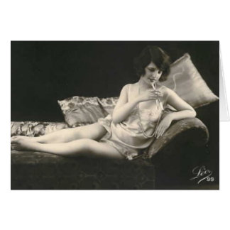 French Risque Photo Card