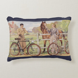French Riviera (By horse) Decorative Cushion