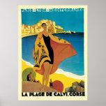 French Riviera La Plage De Calvi Corse Poster