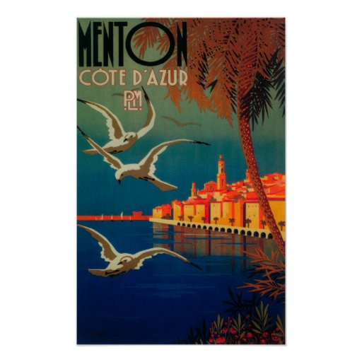 French Riviera Travel Poster # 1