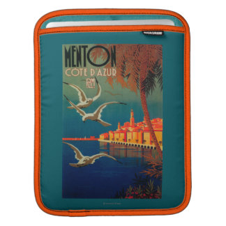 French Riviera Travel Poster # 1 iPad Sleeve
