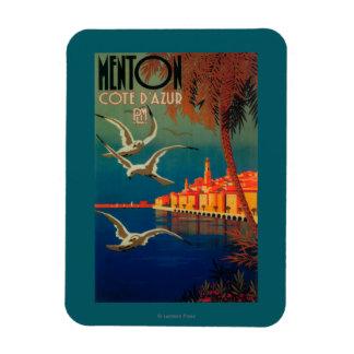 French Riviera Travel Poster # 1 Rectangular Photo Magnet