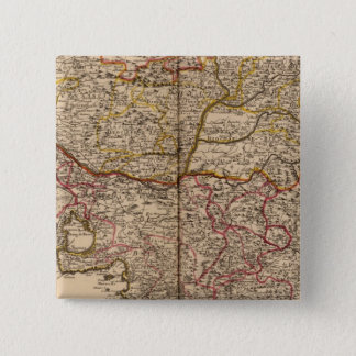 French roads 15 cm square badge