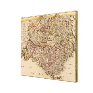 French roads canvas print