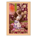 French Romantic Love Kiss Vintage Greeting Card