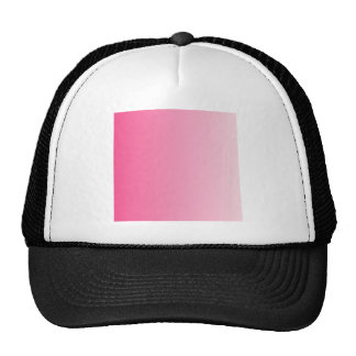 French Rose to Piggy Pink Vertical Gradient Trucker Hats