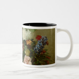 French Roses and Peonies, 1881 Two-Tone Coffee Mug