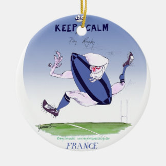 french rugby ball, tony fernandes christmas ornament