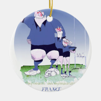 french rugby mates, tony fernandes round ceramic decoration
