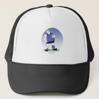 french rugby player, tony fernandes trucker hat