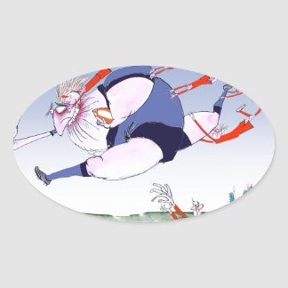 french rugby steamroller, tony fernandes oval sticker