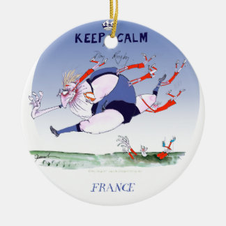 french rugby steamroller, tony fernandes round ceramic decoration