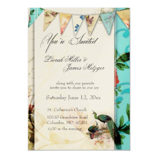 French Shabby chic Vintage invitation