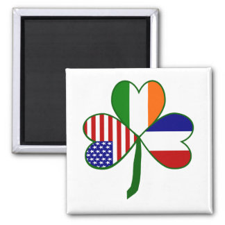 French Shamrock Magnet