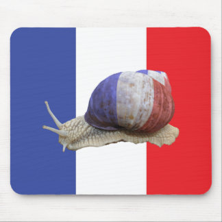 French snail flag mouse mat