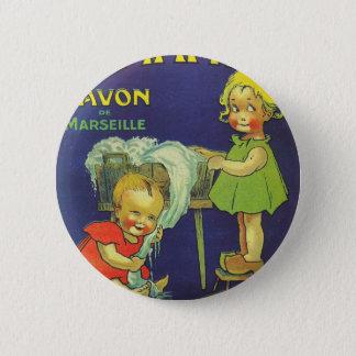 French soap label advertisement Children L'amande 6 Cm Round Badge