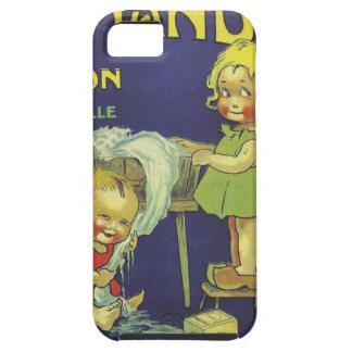 French soap label advertisement Children L'amande Tough iPhone 5 Case
