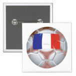 French Soccer Ball Buttons