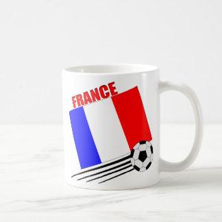 French soccer team basic white mug