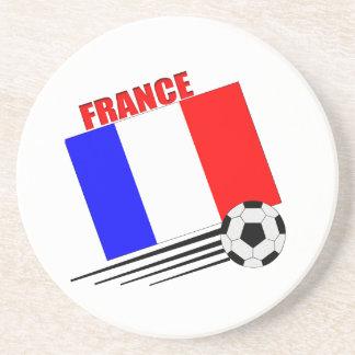 French Soccer Team Beverage Coaster
