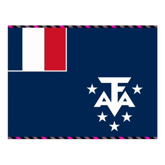 French Southern And Antarctic Lands Flag Postcard
