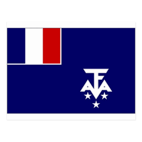 French Southern Antarctic Lands Flag Postcard