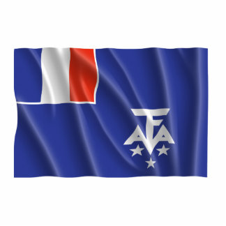 FRENCH SOUTHERN ANTARCTICA FLAG PHOTO SCULPTURE