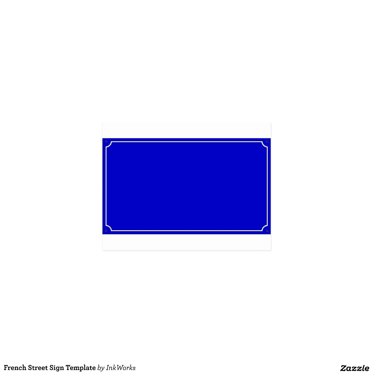 french street sign template zazzle. Black Bedroom Furniture Sets. Home Design Ideas