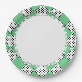 French-Style--Diamond-Green_Harlequin-Everyday Paper Plate