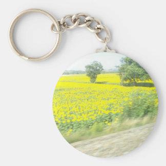 French Sunflowers Key Chain