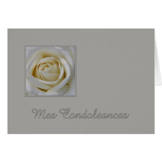 French Sympathy Card Mes Condoleances