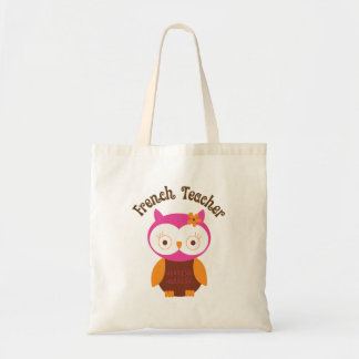 French Teacher Owl Tote Bag