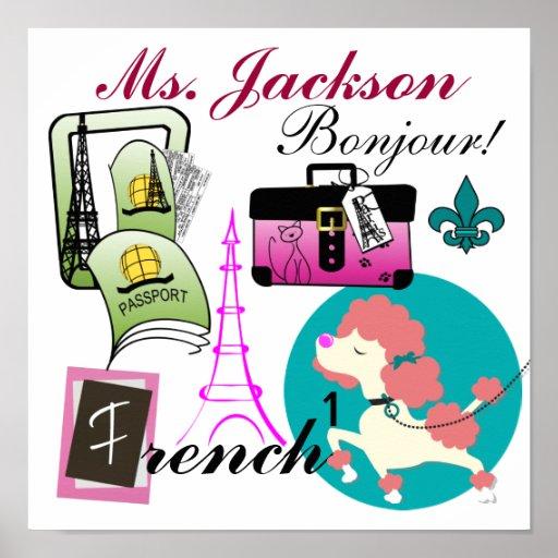 French Teacher Poster / Sign - SRF