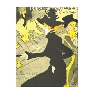 French Theater Club Ad 1892 Stretched Canvas Prints
