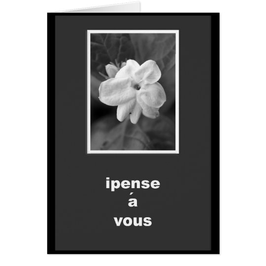 French Thinking Of You Card
